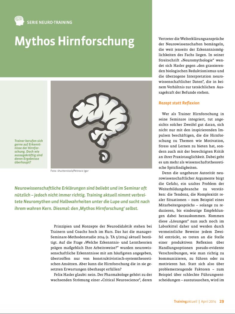 Mythos Hirnforschung